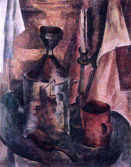 Александр Осмёркин «Натюрморт с керосиновой банкой» 1920-е