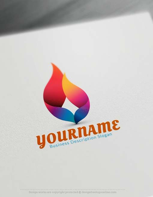 Free Logo Creator  Create 3D flame Logo with 3D Logo Maker