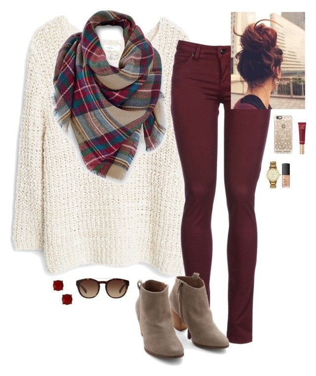 Love the sweater, booties, and color of the pants.
