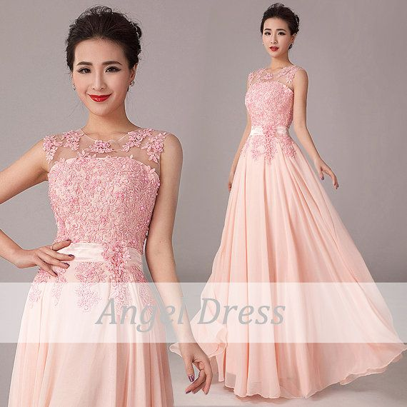 Pink Long Prom Dress/ Long Evening Gown / Long by angeldress2014, $128.00