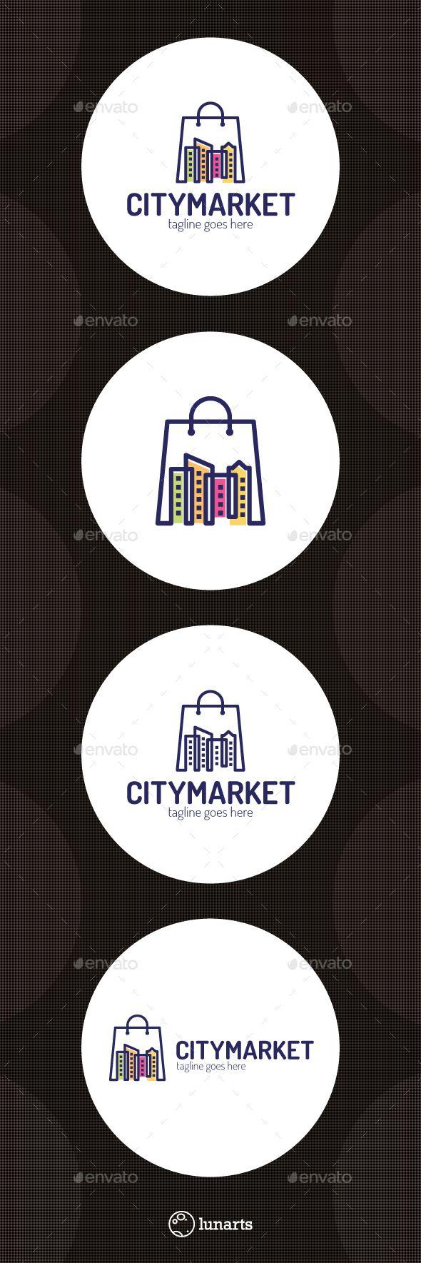 City Store Logo Template Vector EPS, AI. Download here: http://graphicriver.net/item/city-store-logo/14367839?ref=ksioks
