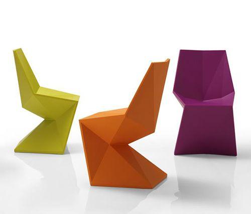 geometric color block indoor/outdoor chiars