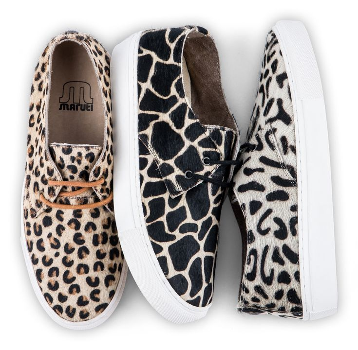 MARUTI Brazz sneakers - leopard turtle and hyena prints for Spring Summer 2015.
