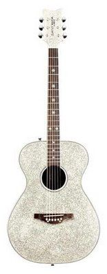 Still trying to convince my mom to let me bedazzle her old guitar. Or let me buy this one. Its soo sparkly!