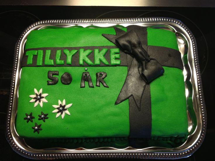 Kage til min svogers fødselsdag