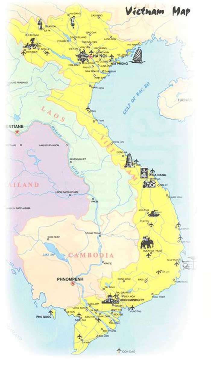 Vietnam Geografiske Kort Over Vietnam Dansk Encyklopaedi