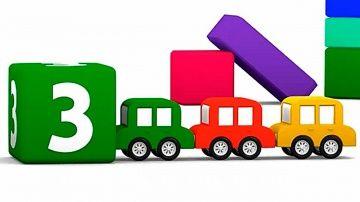Мультфильмы про машинки для самых маленьких. Цифры и цвета для детей http://video-kid.com/10687-multfilmy-pro-mashinki-dlja-samyh-malenkih-cifry-i-cveta-dlja-detei.html  Четыре Машинки - 3D мультфильмы для детей от года. 4 разноцветные машинки, катаясь по экрану под классическую музыку Моцарта, играют в кубики, помогают малышам учить цифры и цвета. Развивающие мультфильмы для детей могут быть простыми и полезными :)Смотрите другие 3D мультики для детей на нашем детском канале Капуки…
