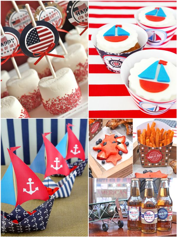 Party Printables | Party Ideas | Party Planning | Party Crafts | Party Recipes | BLOG Bird's Party: 4th of July SALE: 50% OFF Red, White and Blue Prin...