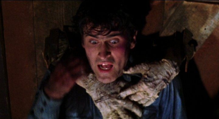 Bruce Campbell ne La Casa - Evil Dead di Sam Raimi