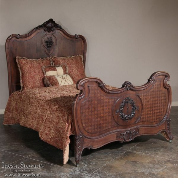 Antique Bedroom Furniture Antique Beds 19th Century French Walnut Regence Queen Bed Www