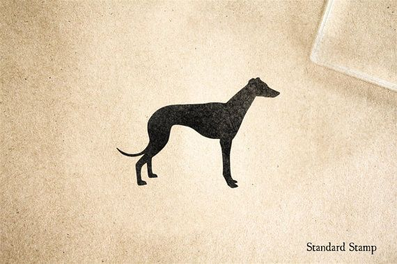 Greyhound Silhouette Rubber Stamp 2 x 2 inches by StandardStamp