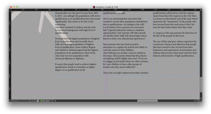 InDesign - textboxes