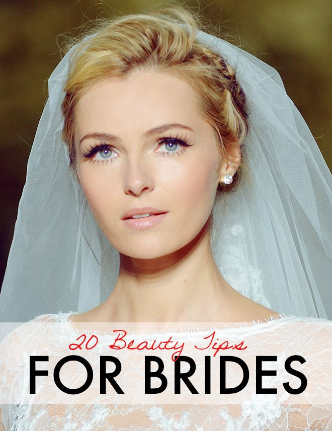 20 Genius Beauty Tips For Brides - Daily Makeover|| Her make up is gorgeous, and her hair, and her dress, and her veil.