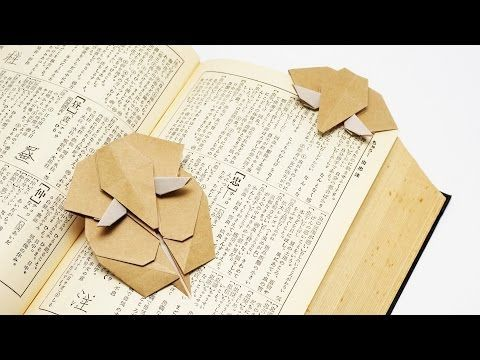 ORIGAMI ELEPHANT BOOKMARK (Jo Nakashima). Link download: http://www.getlinkyoutube.com/watch?v=w-M4u3oQqdA