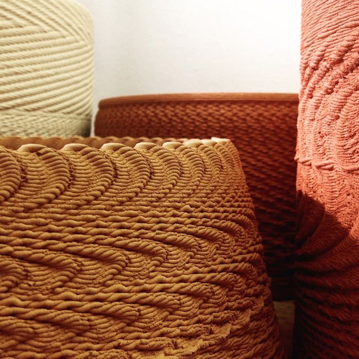 """Spatial sound designer Ricky van Broekhoven and designer Olivier van Herpt, working in the Studio van Broekhoven Soundshapelab,  have developed a project called """"Solid Vibration"""" that uses a 3D ceramics printer and sound to manipulate the textures of clay."""
