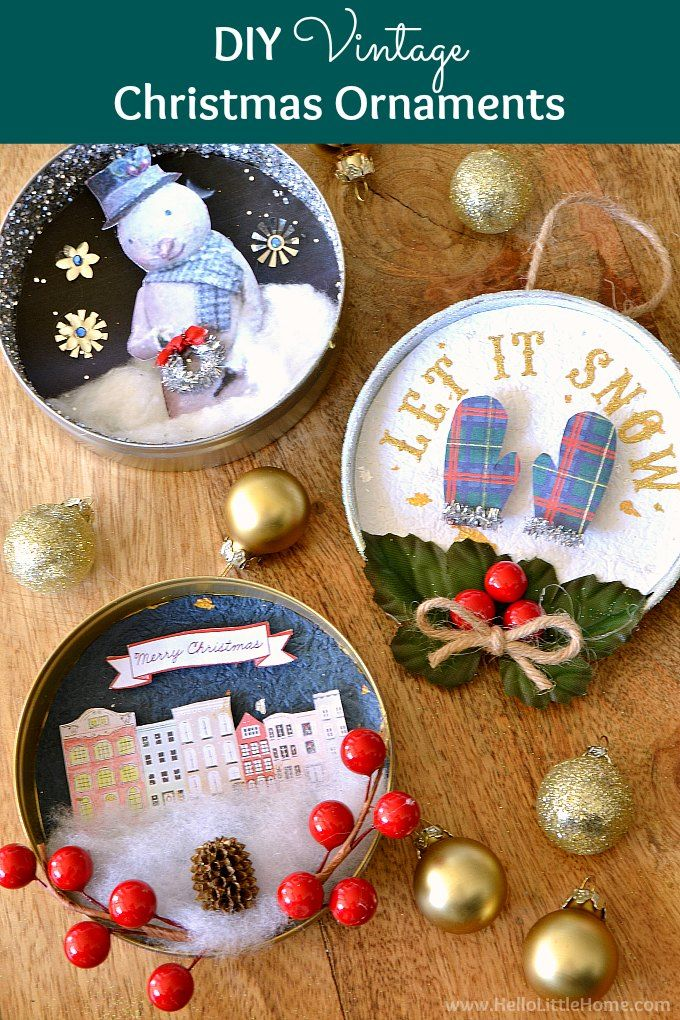DIY Vintage Christmas Ornaments | Advent Event Crafts | Pinterest ...