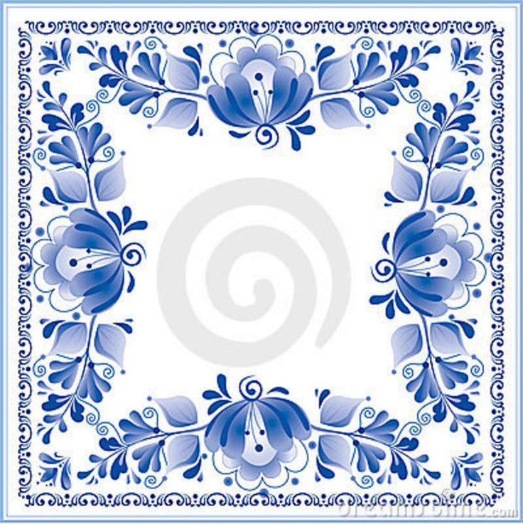 Gzhel Pattern | Shawl In The Gzhel Style Stock Photos - Image: 23064833
