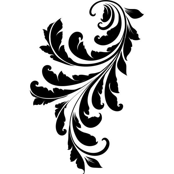 sticker baroque 600 600 moulin rouge pinterest. Black Bedroom Furniture Sets. Home Design Ideas