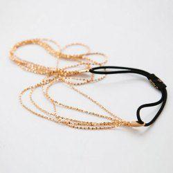 $3.80 Fashion Multi-Layered Chain-Style Hairband For Women
