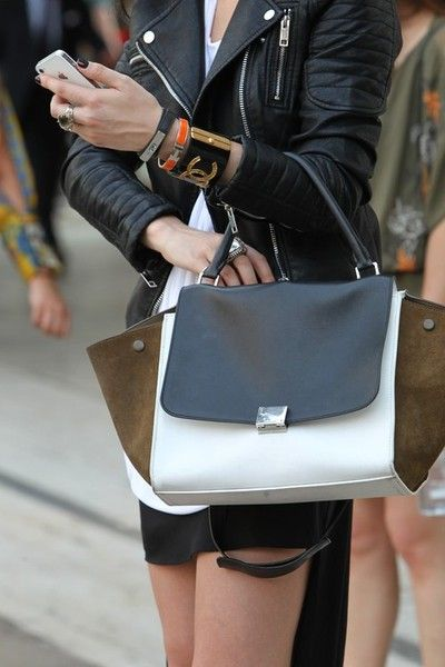 A celine bag and a moto. Life is complete