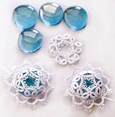 Tatting, frywolitki, occhi: Blue proposition