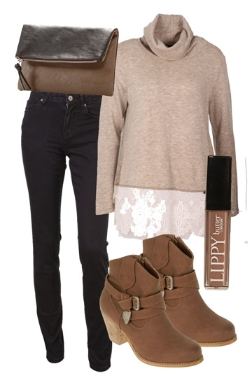 love the jumper and clutch!