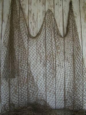 Authentic Used Fishing Net ~ Vintage Fish Netting Decor   eBay