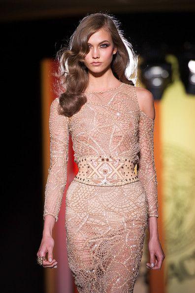 Versace: Show - Paris Fashion Week Haute Couture F/W 2013: Versace, Paris Fashion, Karlie Kloss, Fashion Dresses, Inspiration, Style, Fashion Week, Haute Couture Dresses, Hair