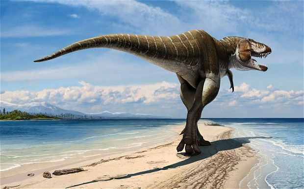"""King of gore predator was an early relative of Tyrannosaurus rex... A new giant species of meat eating dinosaur related to Tyrannosaurus Rex has been discovered and named as Lythronax Argestes, which means """"king of gore"""""""