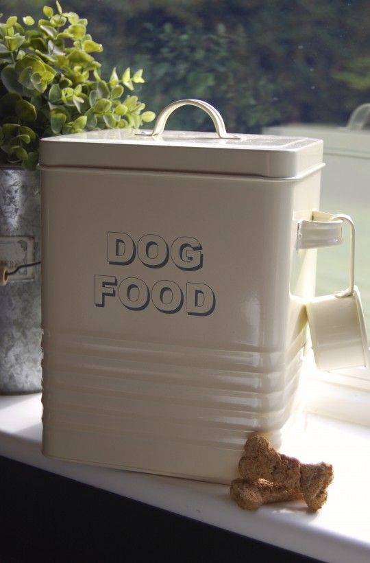 Dog Food Storage Tin