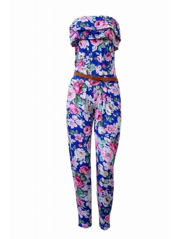 Strapless Bloemen Jumpsuit - Casj