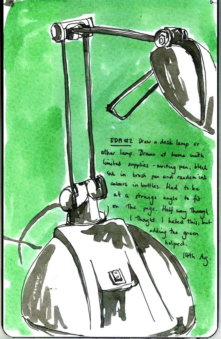 EDM challenge list - TIMBALLOO: EDM challenge #2 Draw a desk lamp