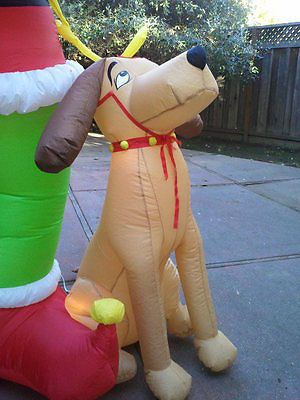 Gemmy Airblown Inflatable Blow up Grinch & Max Christmas ...
