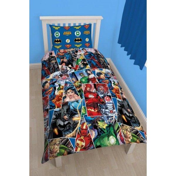 Justice league sengetøj med superhelte