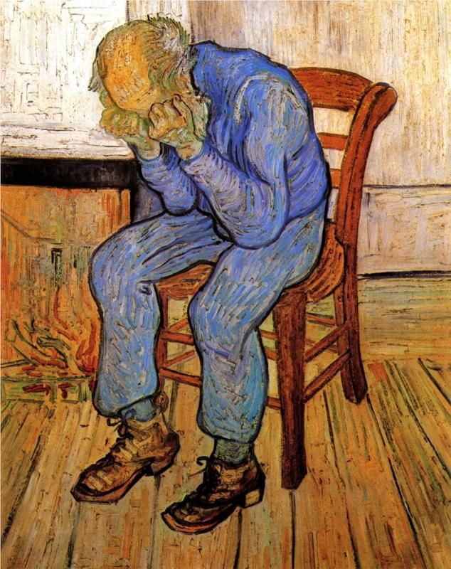 Virgos often over analyze and organize things in their mind, and sometimes all their energy is taken from over-thinking that they have a difficult time organizing their surroundings. (zodiacsociety.com) (Old Man in Sorrow/Vincent Van Gogh)