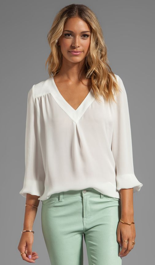 Matte Silk Frenchie B Blouse