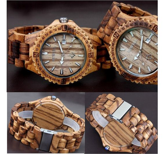 mens wood watch Natural wood watches mens watches Man by Etshisb