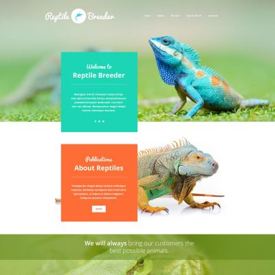 Reptile Breeder Parallax Website Template