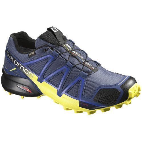 Salomon Men's Speedcross 4 Gore-Tex Trail Running Shoes (Navy/Yellow, Size 14) - Men's Outdoor Shoes at Academy Sports #outdoorshoes