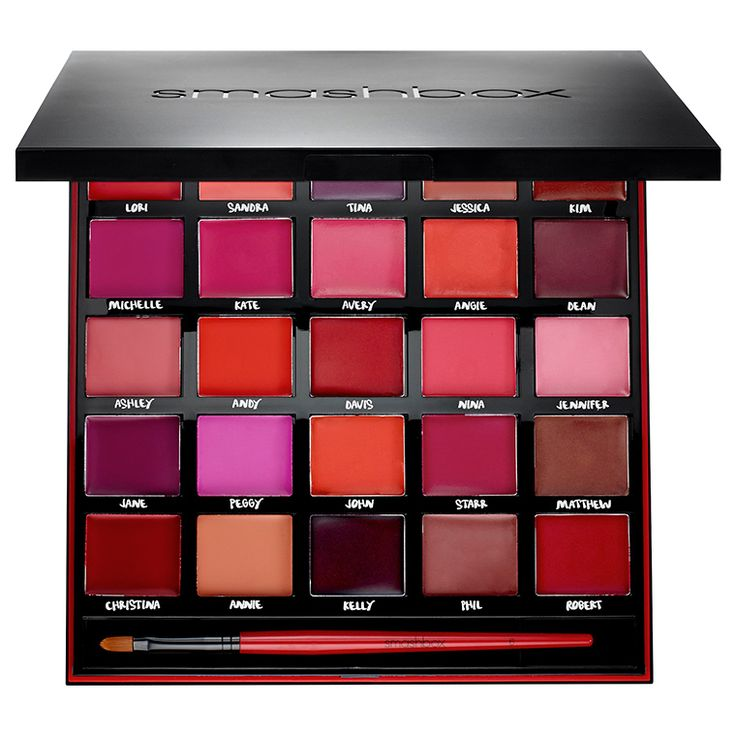 Smashbox For 25 Years Our Lips Have Been Sealed Palette Celebrating 25 years, Smashbox designed this sleek, collectible palette of 25 lipsticks in their mo