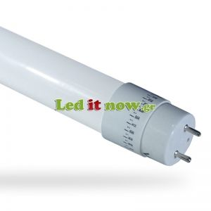 LED V-TAC Τύπου Φθορισμού T8 60cm 10W Glass Rotation 3000K