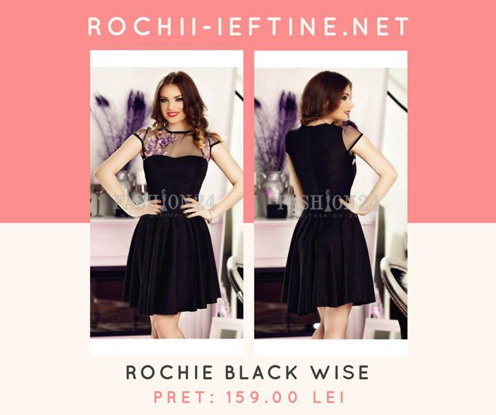 Rochie Black Wise Pret: 159.00 Lei - https://goo.gl/KrByLR