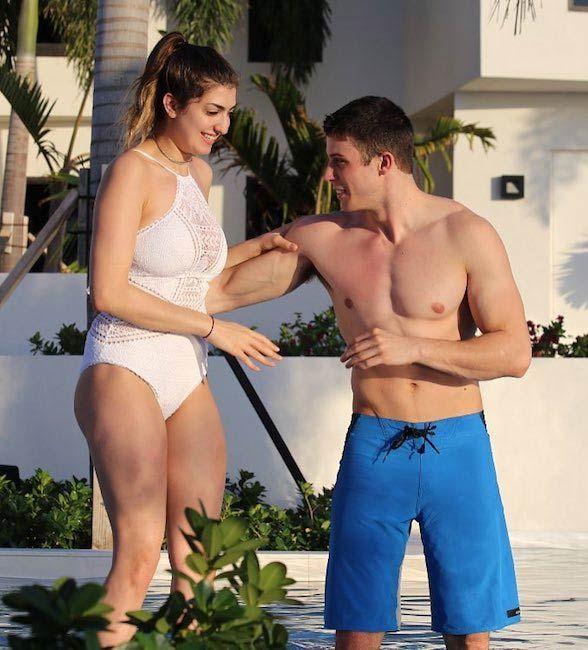YouTuber Rachel Levin with boyfriend Tyler Regan at Triton Luxury Villa, Turks and Caicos Islands in March 2017...