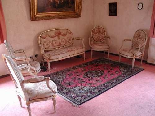 Juego de sala frances aubusson estilo luis xvi siglo xix Muebles de sala luis xvi