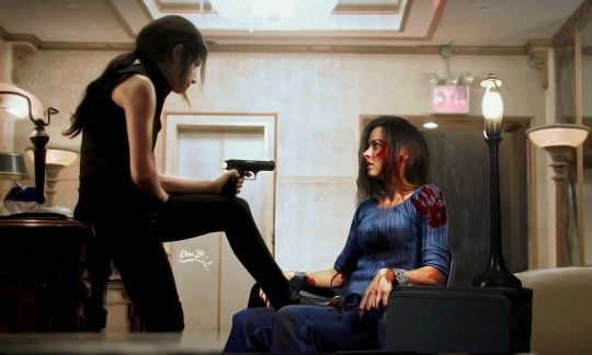 Fanart Possible scenario: Samaritan brainwashed Shaw and had her hunt down Root