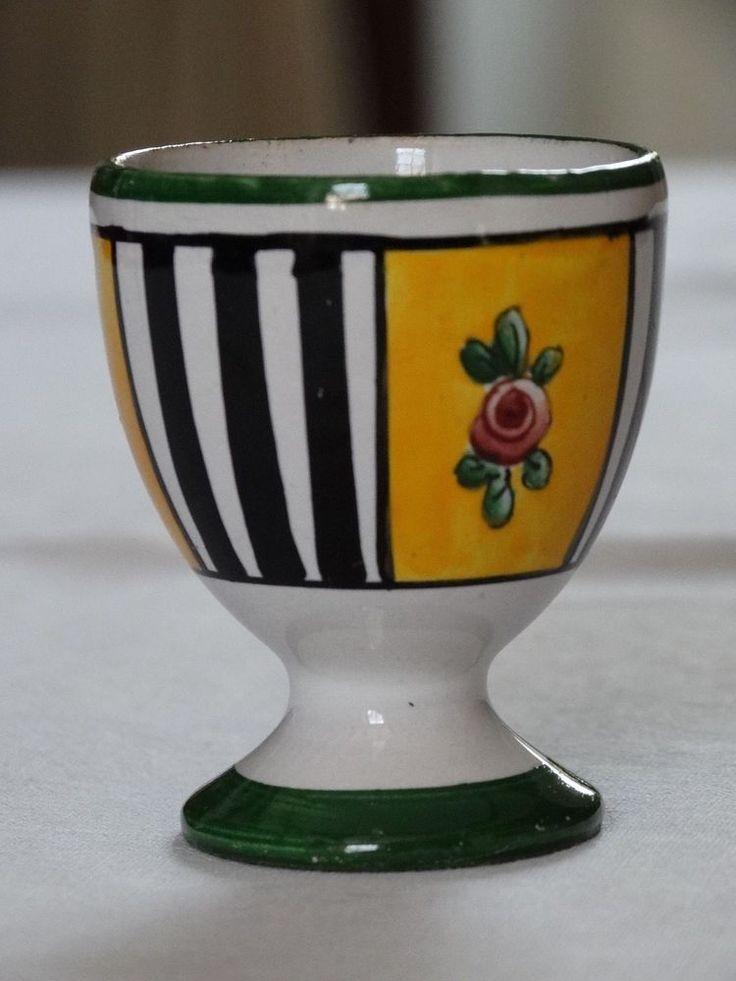 Ancien COQUETIER COLLECTION faïence décor jaune noir vert rayures fleurs | Céramiques, verres, Céramiques, vaisselle déco, Coquetiers, dessous de plats | eBay!