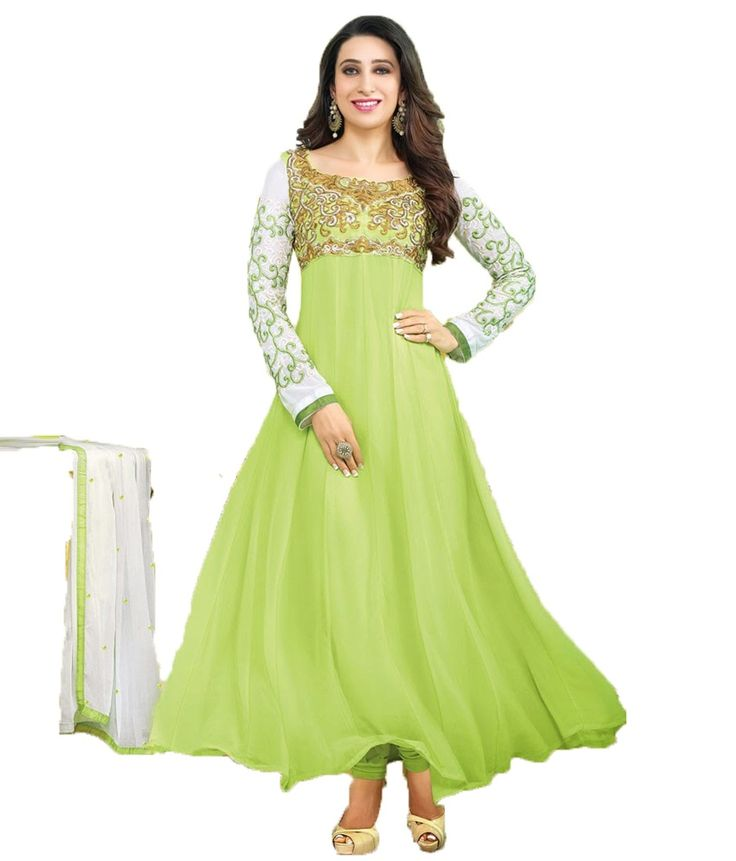 Party Wear Dresses Green Embroidered Faux Georgette Dress Material, http://www.snapdeal.com/product/party-wear-dresses-green-embroidered/1845057691
