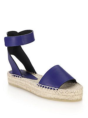 Love a good espadrille...Vince Edie Leather Espadrille Sandals