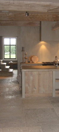 Landelijke houten keuken