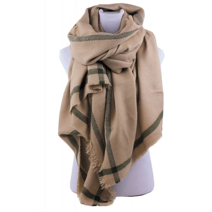 WINTER COLLECTION 2016 NEW SCARF BEIGE GREEN FASHION ACCESSORIES WHOLESALE SIMI